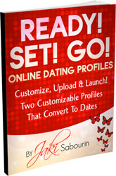 •Ready, Set, Go! – Your fail-proof online dating profiles. Two customizable profiles that convert to dates!